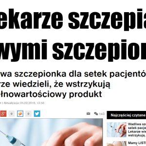 Lekarze szczepią wadliwymi szczepionkami