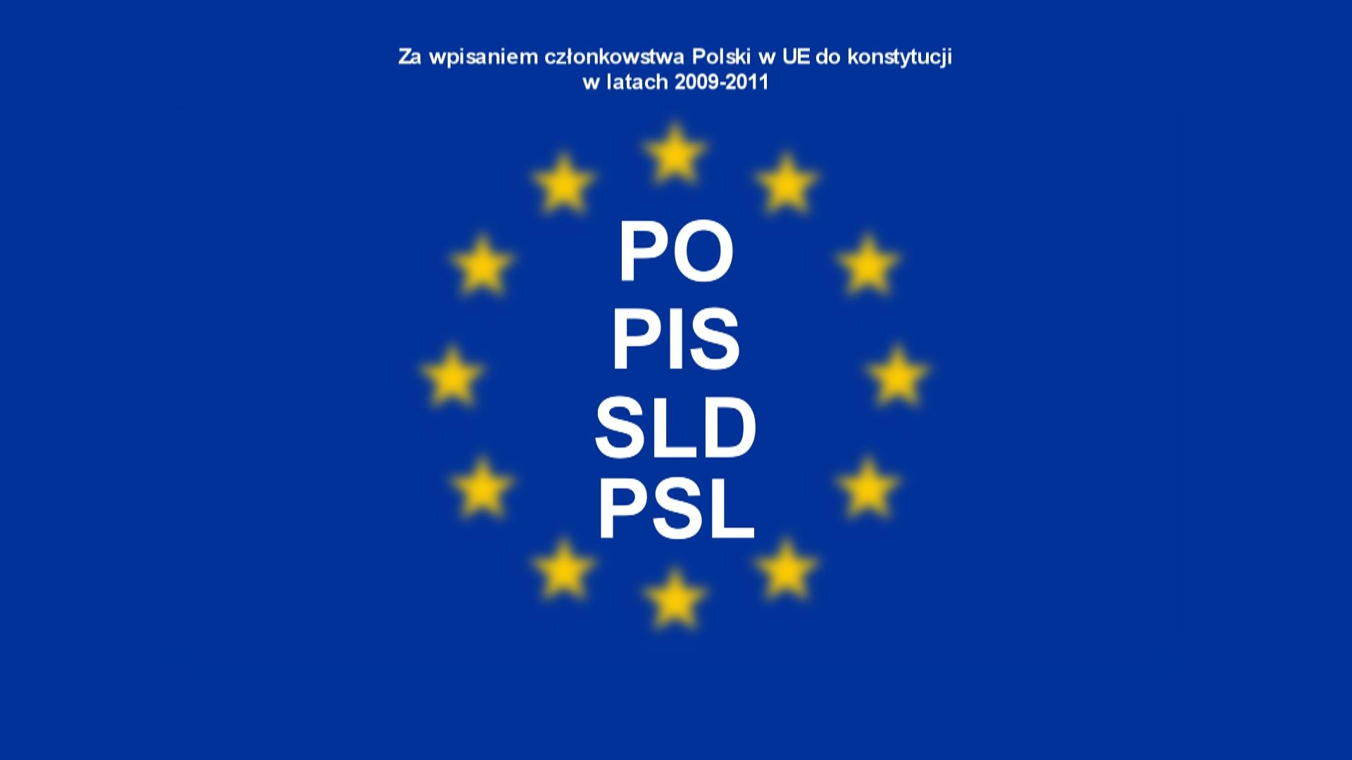 Członkostwo Polski w Unii Europejskiej ma gwarantować konstytucja